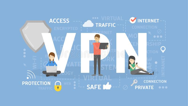 VPN concept illustration. royalty free illustration