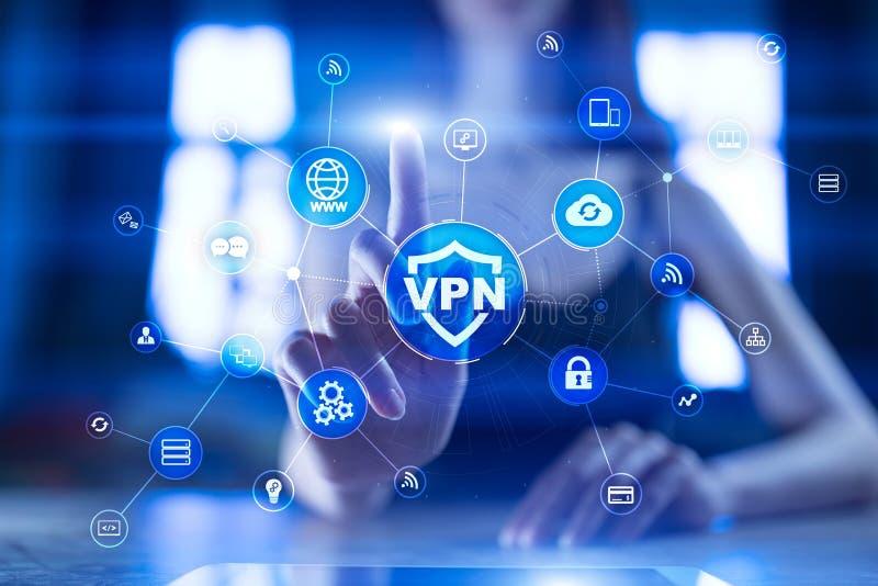 Εικονικό ιδιωτικό πρωτόκολλο δικτύων VPN Ασφάλεια Cyber και τεχνολογία σύνδεσης μυστικότητας Ανώνυμο Διαδίκτυο στοκ εικόνα