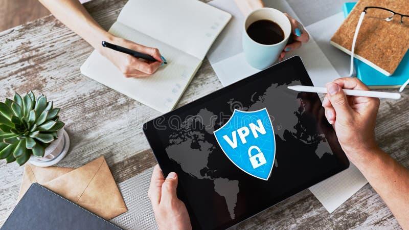 VPN - Faktiskt perivatenätverk Begrepp för internetconncetionavskildhet fotografering för bildbyråer