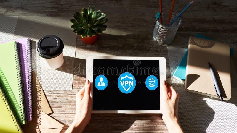 VPN - Faktiskt perivaten?tverk Begrepp f?r internetconncetionavskildhet royaltyfri foto