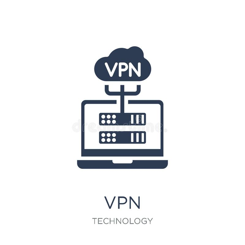 VPN icon. Trendy flat vector VPN icon on white background from T. Echnology collection, vector illustration can be use for web and mobile, eps10 royalty free illustration