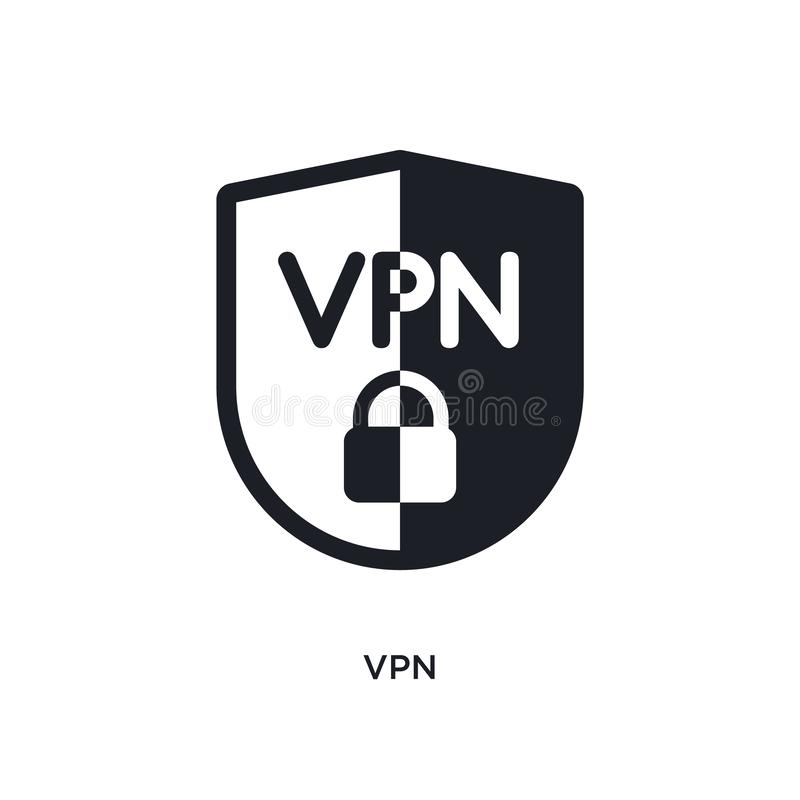 vpn isolated icon. simple element illustration from technology concept icons. vpn editable logo sign symbol design on white royalty free illustration