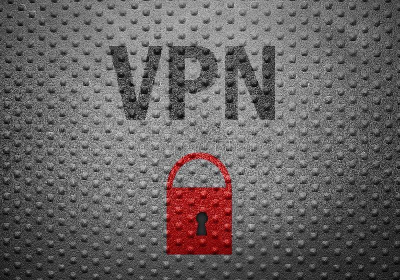 VPN säkerhetslås royaltyfria bilder