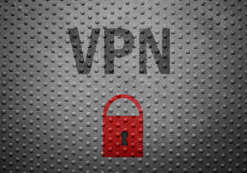 VPN security lock royalty free stock images