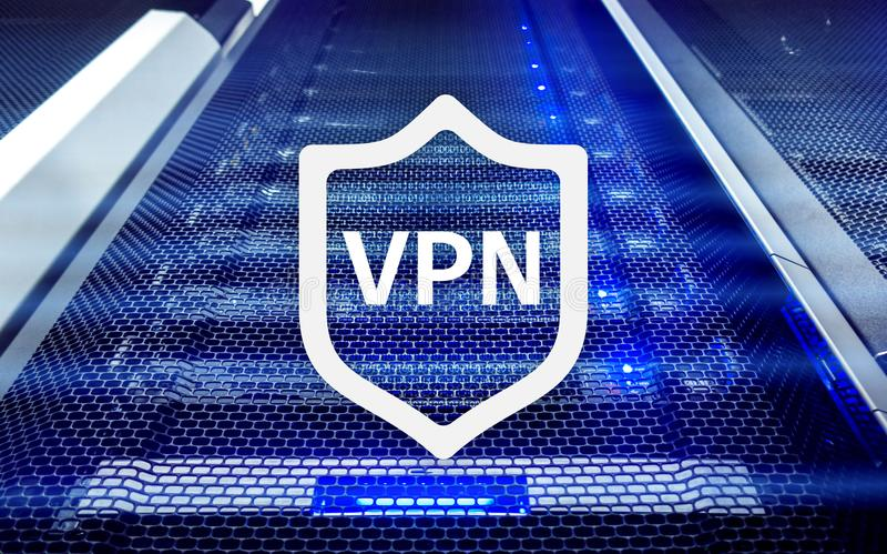 VPN, technologie de réseau privé virtuelle, procuration et SSL, sécurité de cyber photographie stock libre de droits