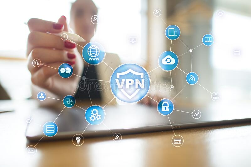 VPN Virtual Private network protocol. Cyber security and privacy connection technology. Anonymous Internet. royalty free stock photos