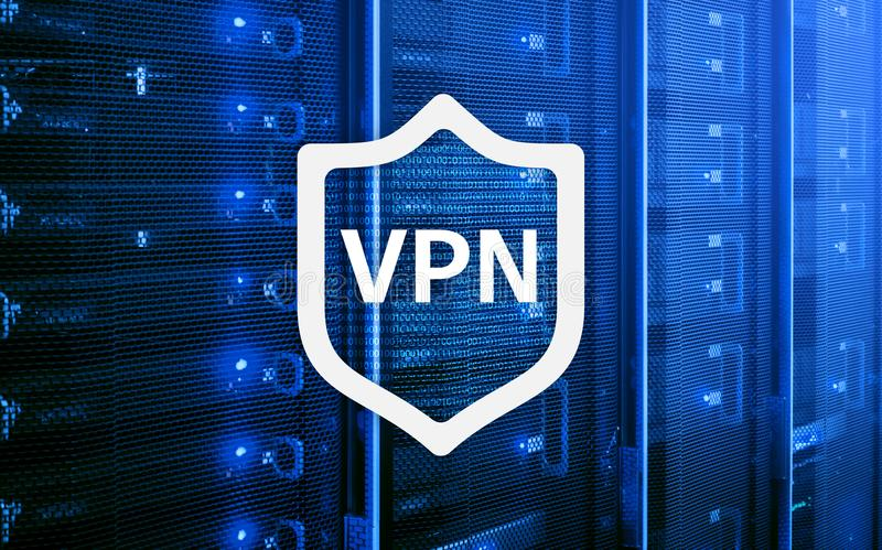 VPN, virtual private network technology, proxy and ssl, cyber security. vector illustration
