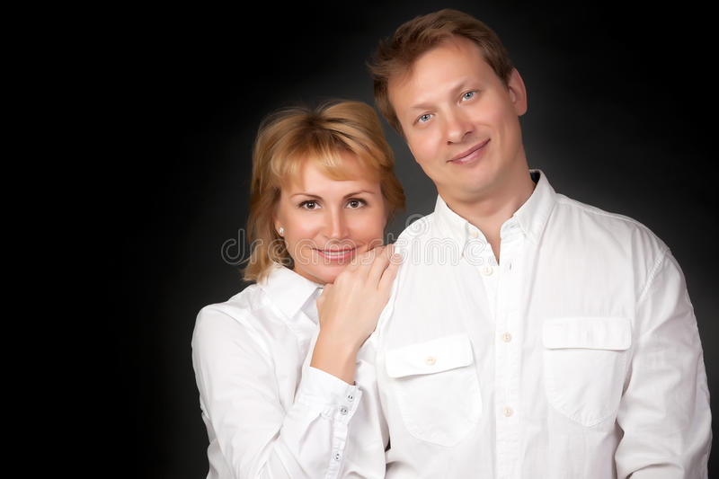 Vportrait of a beautiful couple royalty free stock image