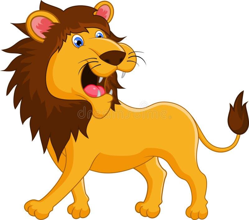 Vråla för lejontecknad film stock illustrationer