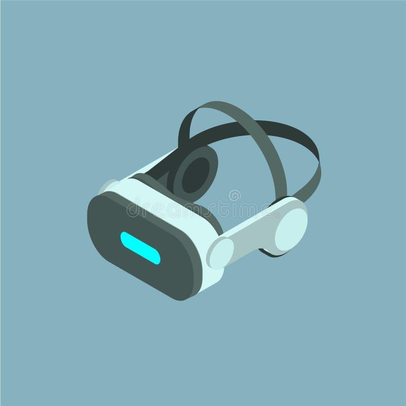 VR διανυσματικό isometric εικονίδιο κρανών απεικόνιση αποθεμάτων
