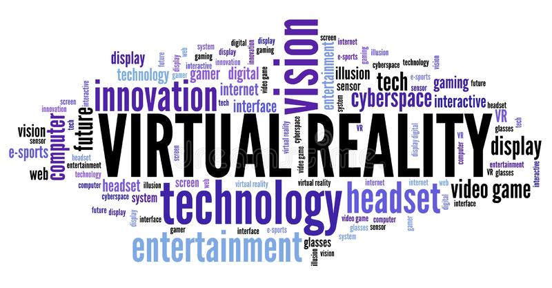 VR σύννεφο λέξης απεικόνιση αποθεμάτων