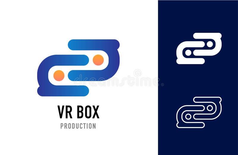 VR-ask royaltyfri bild