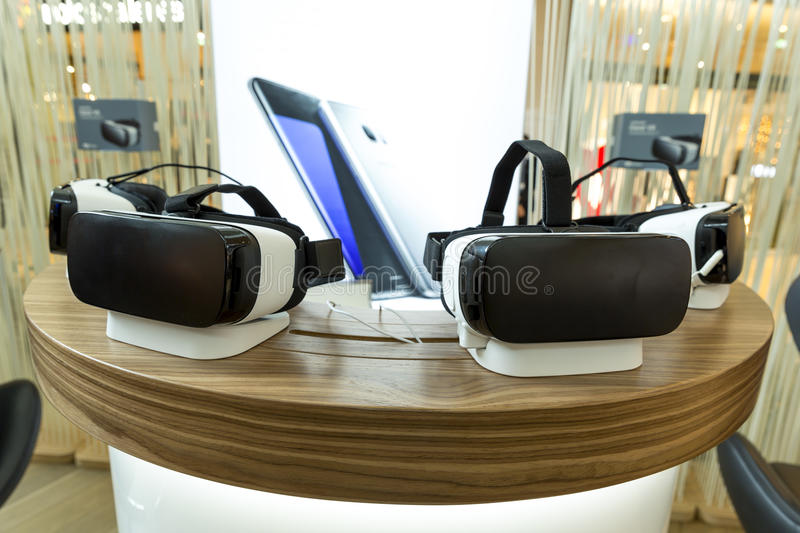 VR headsets, virtual reality sets, VR glasses royalty free stock photos