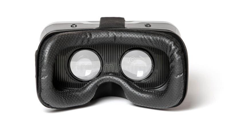 VR helm van de glazen de virtuele werkelijkheid voor mobiele die telefoon op witte achtergrond wordt geïsoleerd royalty-vrije stock afbeeldingen