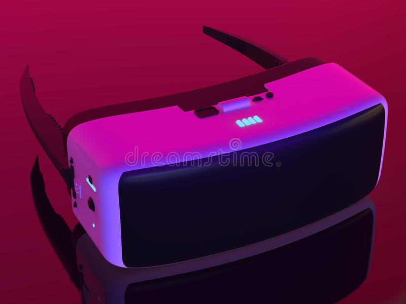 VR hoofdtelefoon stock illustratie
