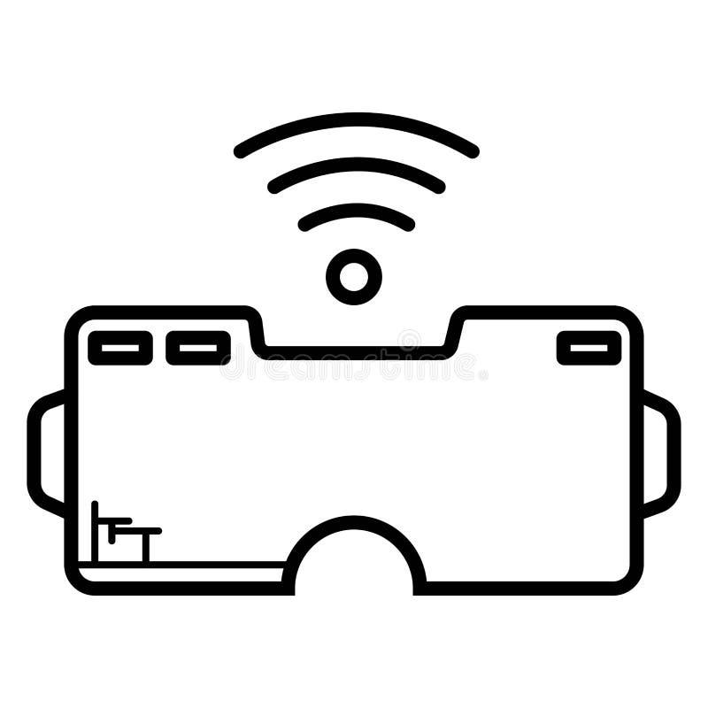 VR hoofdtelefoonpictogram Vector royalty-vrije illustratie