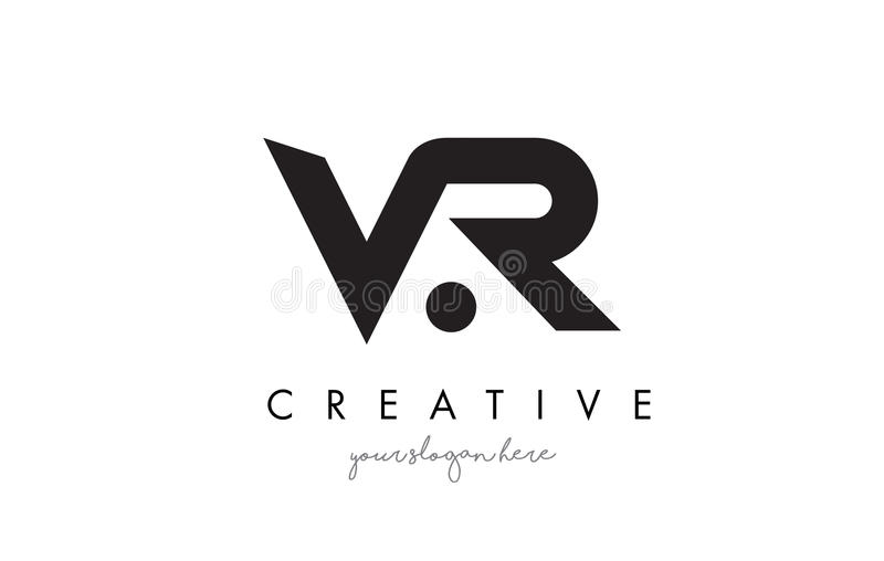 VR Letter Logo Design with Creative Modern Trendy Typography. stock illustration