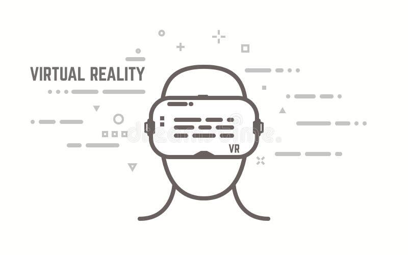 VR lijnconcept royalty-vrije illustratie