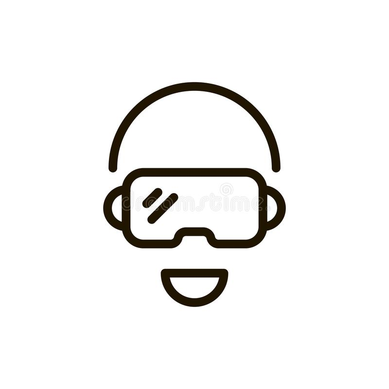 VR-Linie Ikone stock abbildung