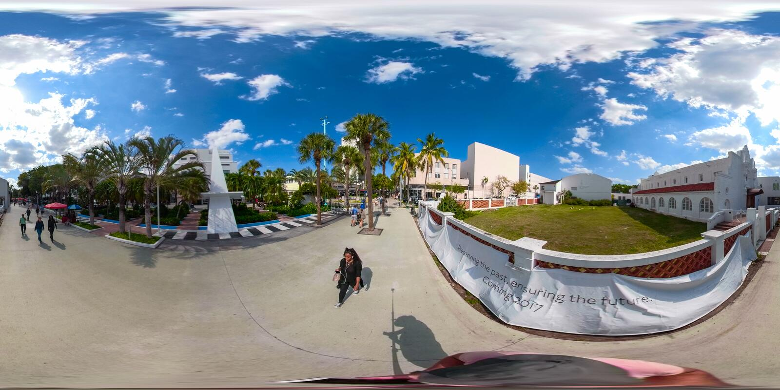 Vr Miami Beach-Lincoln Roads 360 Panorama lizenzfreie stockfotos