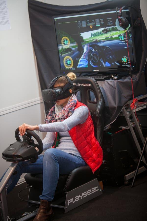VR napędowa gra zdjęcia stock
