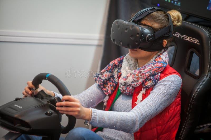 VR napędowa gra obrazy stock
