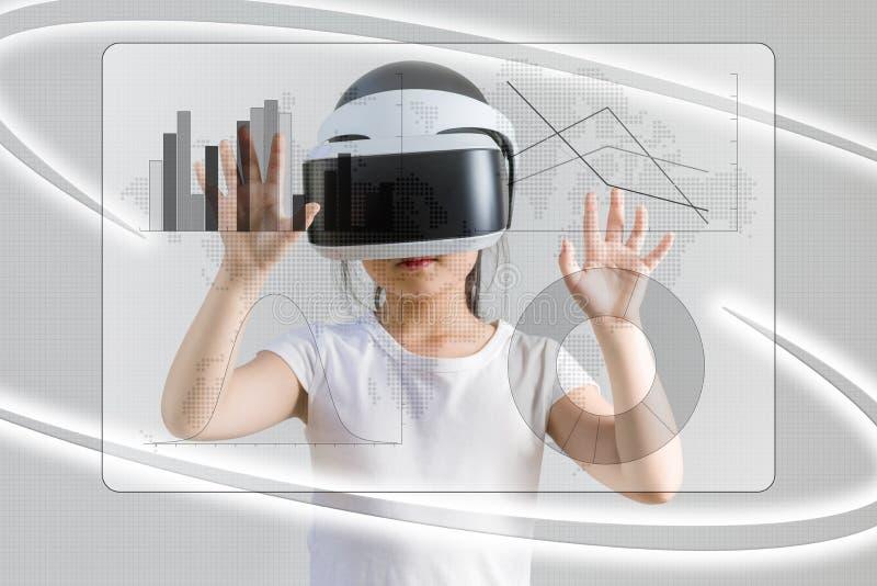 VR oder virtuelle Realität für Numerische Informations-Konzept veranschaulichen lizenzfreies stockfoto