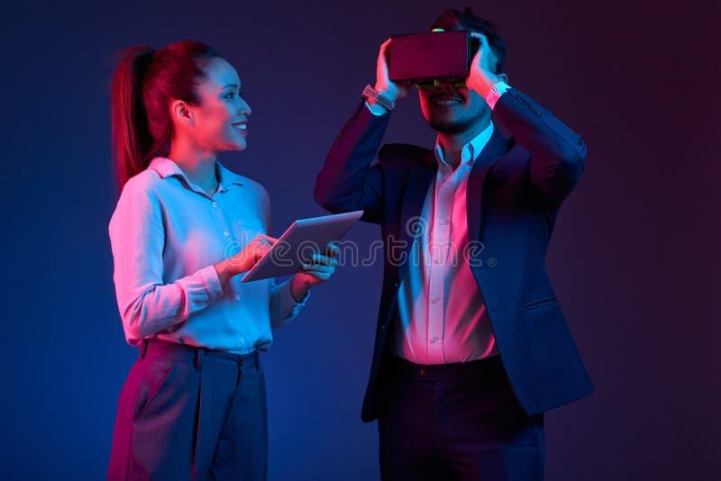 VR ontwikkelaars royalty-vrije stock fotografie
