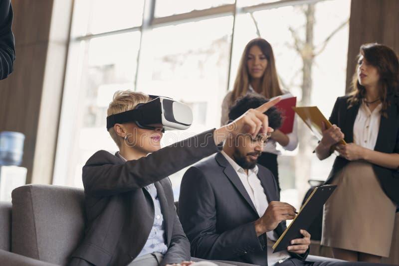 VR presentatie royalty-vrije stock afbeelding