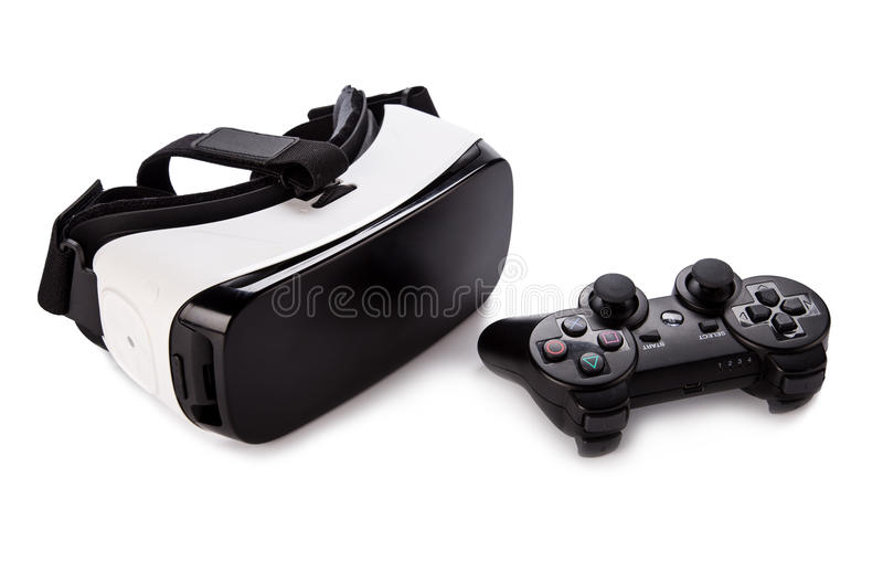 VR virtual reality glasses on white background royalty free stock images