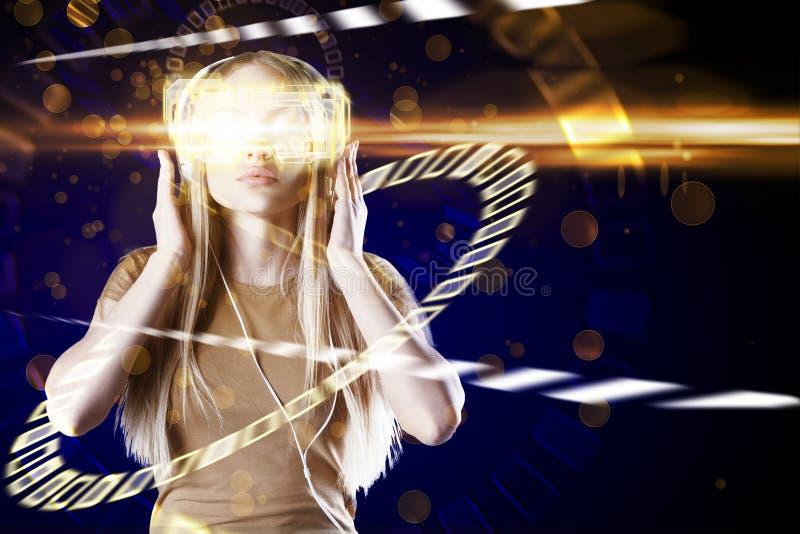VR y concepto de la comunicación fotos de archivo libres de regalías