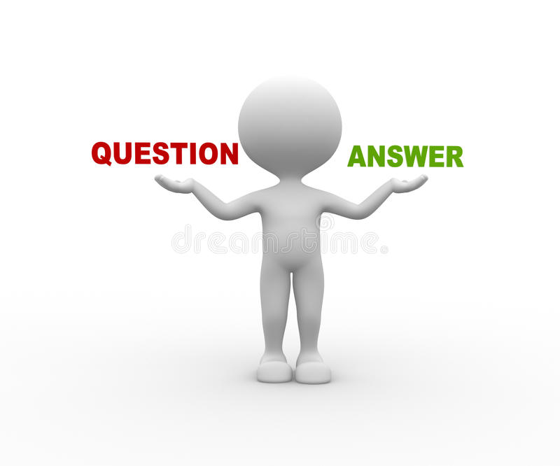 Vraag of Ansewer royalty-vrije illustratie