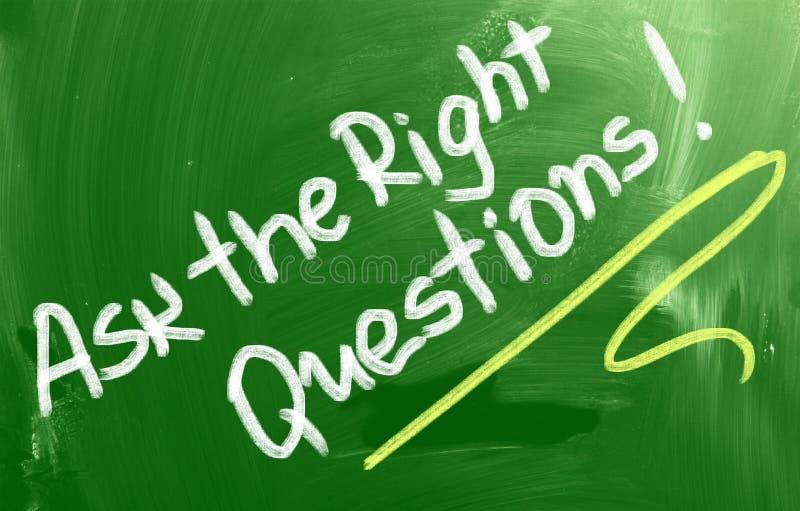 Vraag het Juiste Vragenconcept royalty-vrije stock foto's
