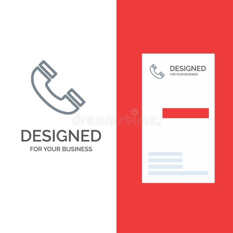 Vraag, Interface, Telefoon, Ui Grey Logo Design en Visitekaartjemalplaatje royalty-vrije illustratie