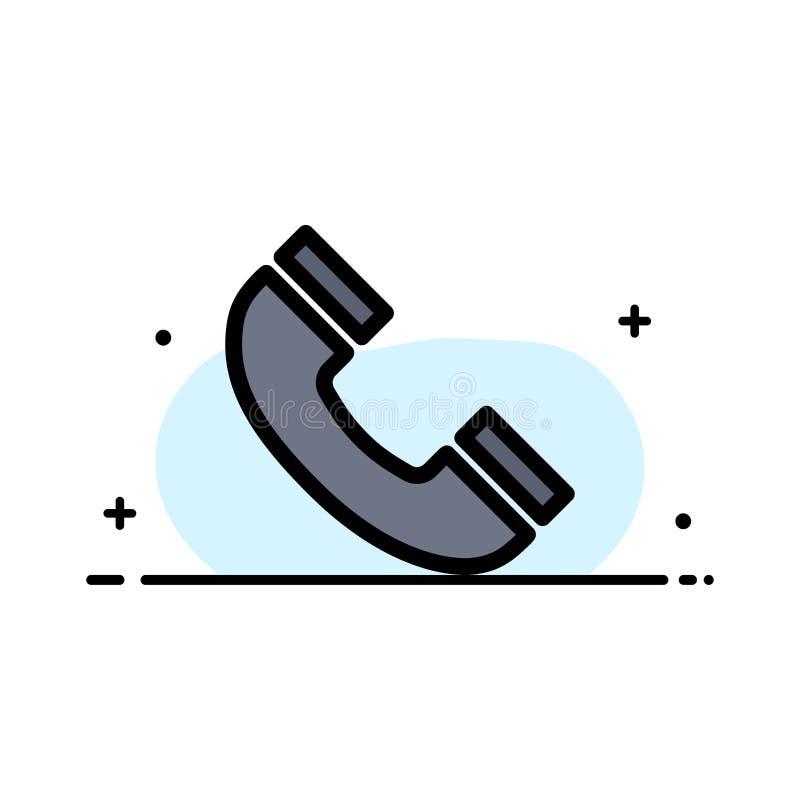 Vraag, Interface, Telefoon, Ui-Malplaatje van de Bedrijfs het Vlakke Lijn Gevulde Pictogram Vectorbanner vector illustratie