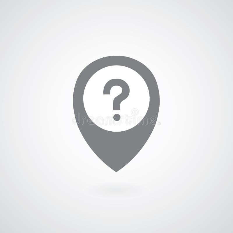 Vraag Mark Symbol royalty-vrije illustratie