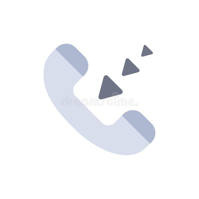 Vraag, Mededeling, Inkomend, Pictogram van de Telefoon het Vlakke Kleur Het vectormalplaatje van de pictogrambanner royalty-vrije illustratie