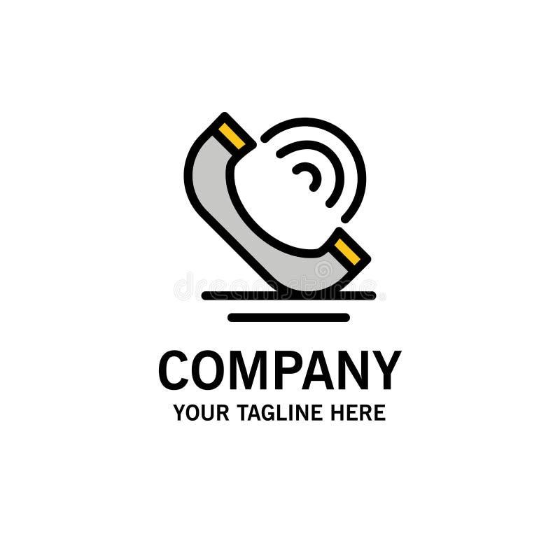 Vraag, Mededeling, Telefoon, de Dienstenzaken Logo Template vlakke kleur royalty-vrije illustratie