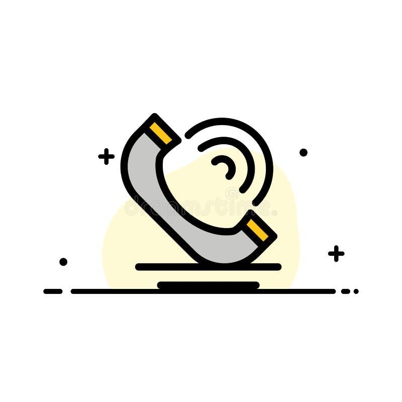 Vraag, Mededeling, Telefoon, Malplaatje de Diensten van de Bedrijfs het Vlakke Lijn Gevulde Pictogram Vectorbanner stock illustratie