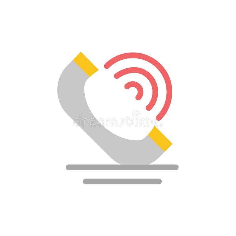 Vraag, Mededeling, Telefoon, Pictogram van de de Diensten het Vlakke Kleur Het vectormalplaatje van de pictogrambanner royalty-vrije illustratie