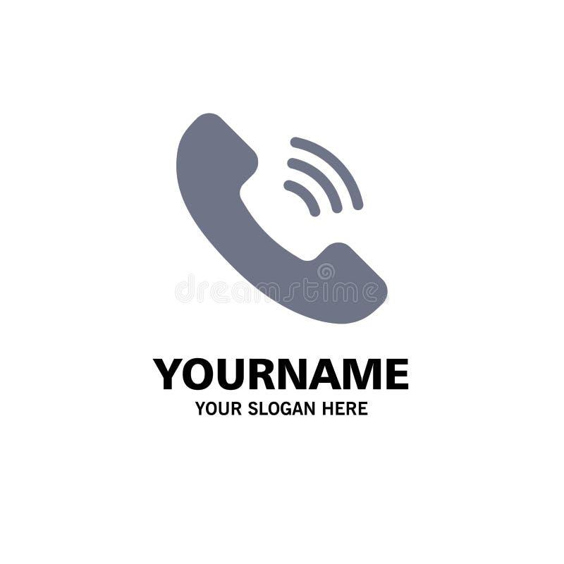Vraag, Mededeling, Telefoonzaken Logo Template vlakke kleur stock illustratie