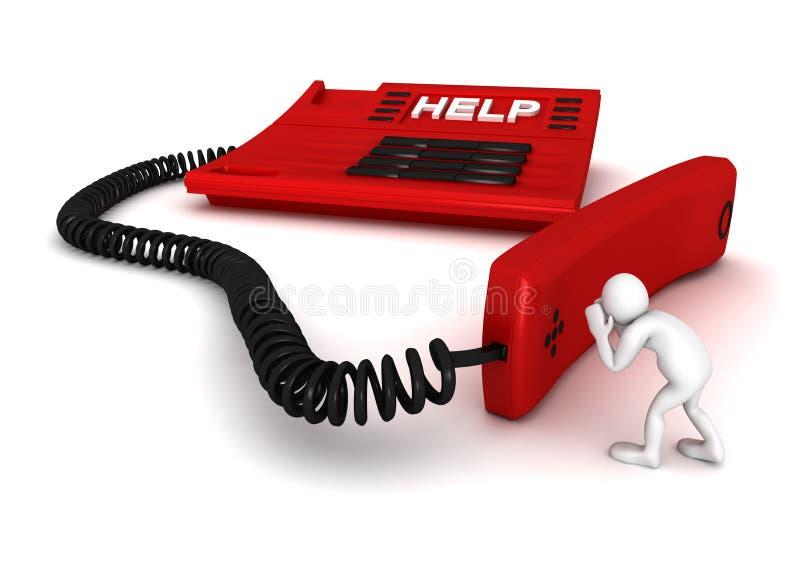 Vraag naar hulp stock illustratie