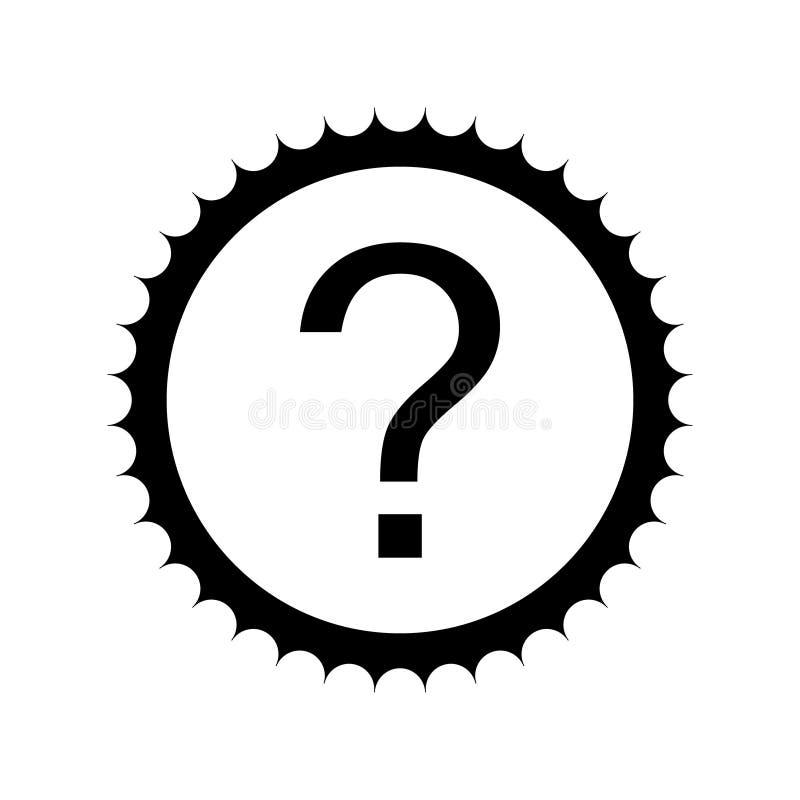 Vraag om zegelpictogram Dit vlakke glyphsymbool wordt getrokken met zwarte kleur op een witte achtergrond vector illustratie