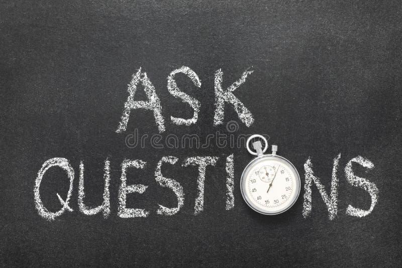 Vraag vragenhorloge royalty-vrije stock foto's