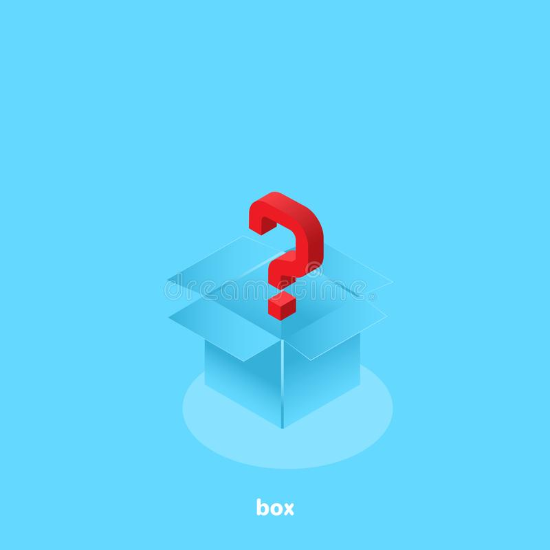 Vraagteken in een open doos stock illustratie