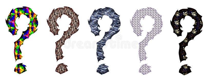 Vraagtekens stock illustratie