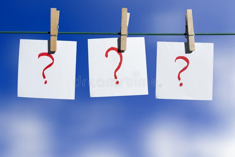 Vraagtekens - keuzen royalty-vrije stock foto