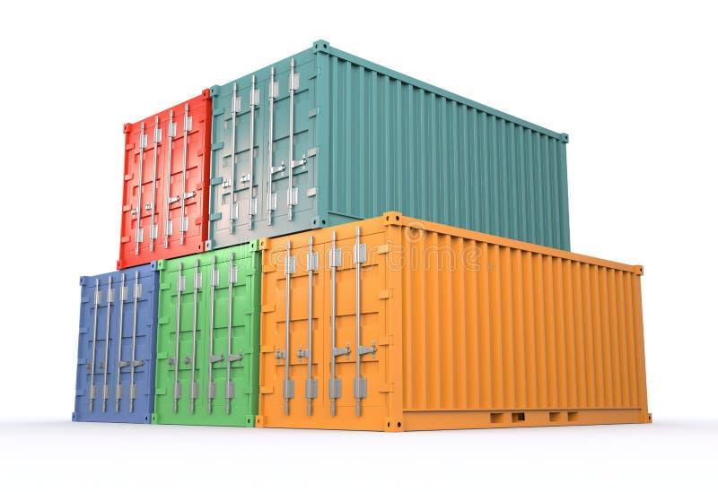 Vrachtcontainers stock illustratie