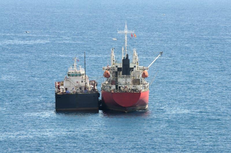Vrachtschepen stock afbeeldingen