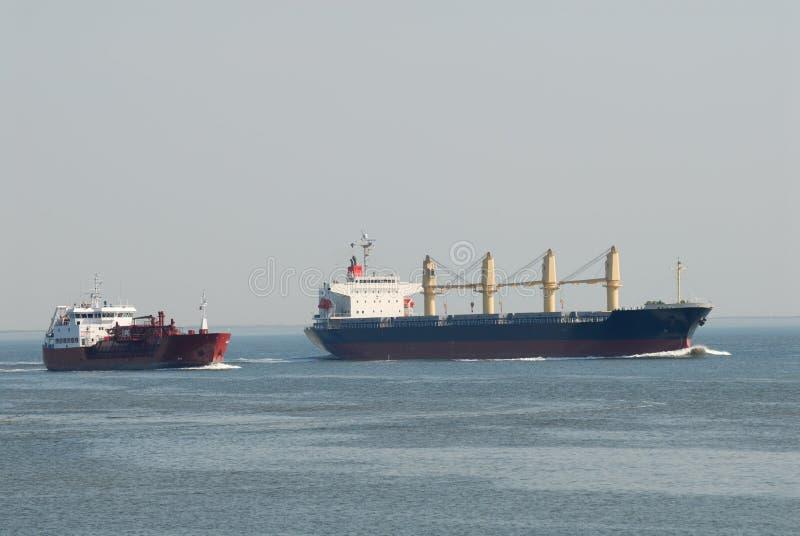 Vrachtschepen stock foto